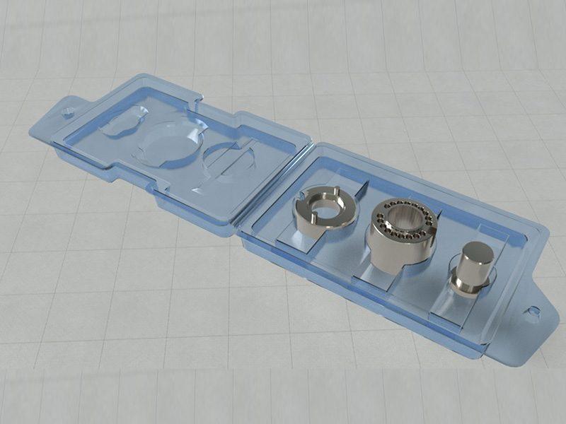 Knee device tray